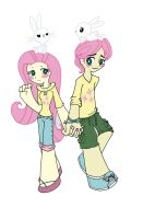 Fluttershy and Butterscotch by otaku-attitude