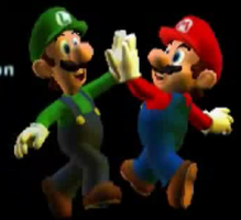 Mario And Luigi In Credits Of Luigi's Mansion 2 by PuccadomiNyo