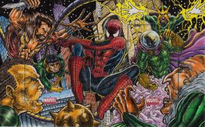 spidey vs sinister 6 by danborgonos