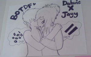 My totally awesome DahvieXJayy poster! by BOTDF-Sonic-Pm2fan