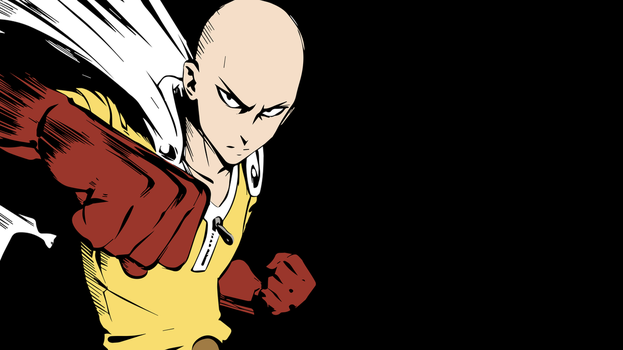 Saitama (One Punch Man) Vector Wallpaper by Max028