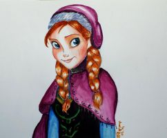 Anna - Watercolor by Elliepamp