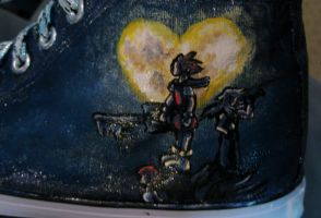 Kingdom Hearts custom painted shoes 2 by thedarkartistgirl