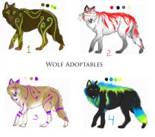 wolf adoptables by snorgolwolks