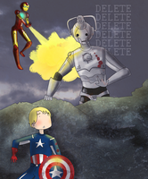 Tony and Steve: Attack of the Cybermen by ice-cream-skies