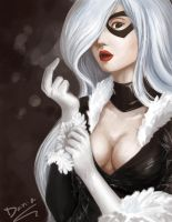 Black cat by Kostli