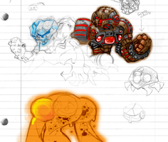 Samus Doodles by Hologramzx