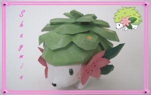 Shaymin Papercraft by PrincessStacie
