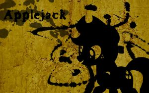 Applejack Splatter Wallpaper by Glitcher007