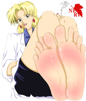 Ritsuko bare foot by DazMatter