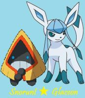 Snorunt and Glaceon by Dark-Infernape