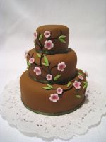 Mini Cherry Blossom Cake by Kiilani