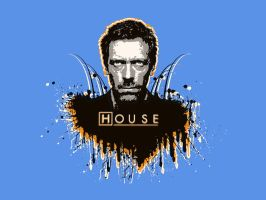House MD - the not bw wall by Melwasul