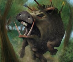 Kalydonian Boar by Christos-Martinis