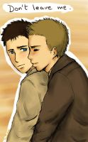 Dean and Castiel by lemonpie-art