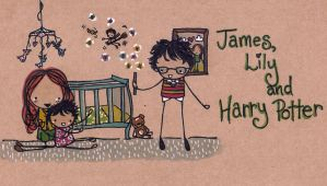 James, Lily and Harry Potter by Pinkie-Perfect