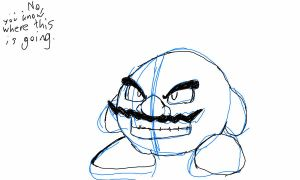 Chugga Kirby Sketch by GlassMan-RV