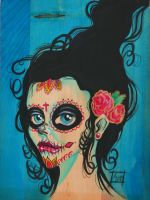 Another Day of the Dead girl by mvaguero