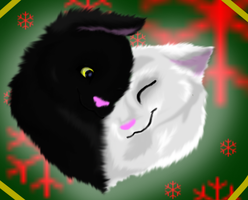 Merry Christmas White And Silver by RikkiWolf