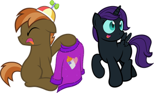 Button And Nyx by ClamStacker