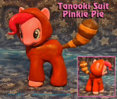"Tanooki Suit Pinkie Pie custom figure ""finish by Bearded-Brony"