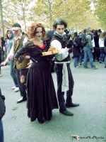 Mrs. Lovett and Sweeney Todd by StereoCatastrophe