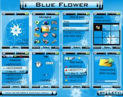 Blue Flower by Letyi