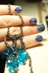 Blue Spot Nails by KatieAlves
