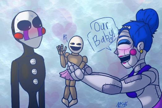 Ballora x Puppet OUR BABY by Mrs-Spring45