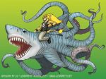 Epic Sharktopus by lizardbeth