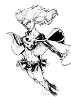 Evil Supergirl Inks by CdubbArt