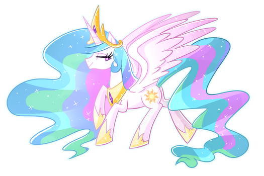 Princess Celestia by Kaji-Tanii