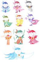 Tiny Titans-Raven and her Emoticlones by zigaudrey