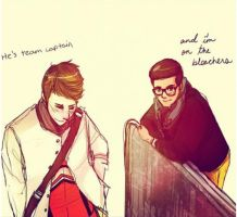 Klaine: He's Cheer Captain by Snowfest