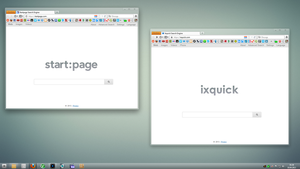 start page, ixquick clean and minimal by oxtx