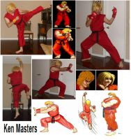 Ken Masters Cosplay Collage by IronCobraAM