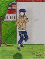 Hinata is ready. Byakugan by Paty-Longbottom21