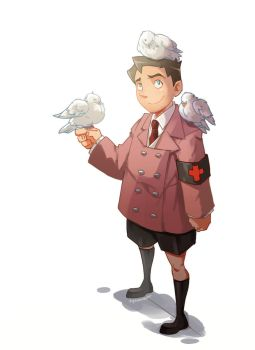 TF2 Young Medic by biggreenpepper