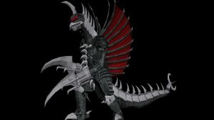 Gigan X .obj for MMD conversion by kaxblastard