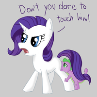 Rarity and Spike by DoodleSuovick