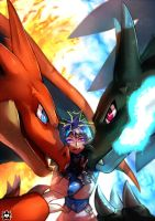 Mega Charizards by E-X-P-I-E