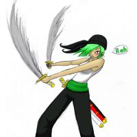 Girly Zoro again by Suicidal-butterfly