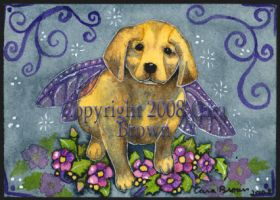 Puppy Fairy ACEO by candcfantasyart