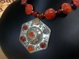 Carnelian Medallion by BacktoEarthCreations