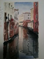 Watercolour Venice by JackMontegue