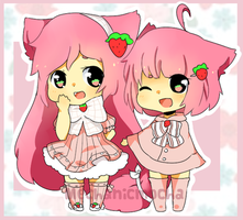 Doodle of two sisters~ by MechanicMocha