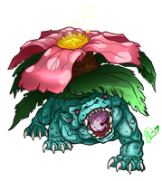 Pokemon - 003 Venusaur by BLACK-HEART-SPIRAL