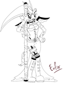 Enfer Lineart by NystagmusAlbino