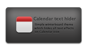 Calendar text hider by iMushDesing