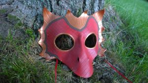 Red Dragon Leather Mask by A-S-Thompson